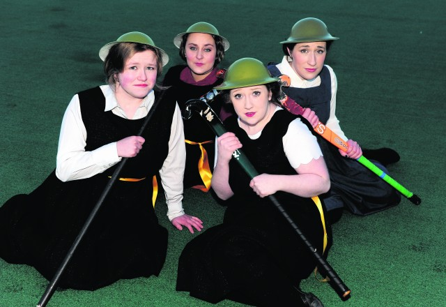 University of Aberdeen's Gilbert and Sullivan are putting on a production of Princess Ida. Pictured are cast members (L:R) Kiera Robertson, Jasmine Jyra, Ashley Snaddon and Katrina Findlay. 29th January 2015. Picture by KATH FLANNERY
